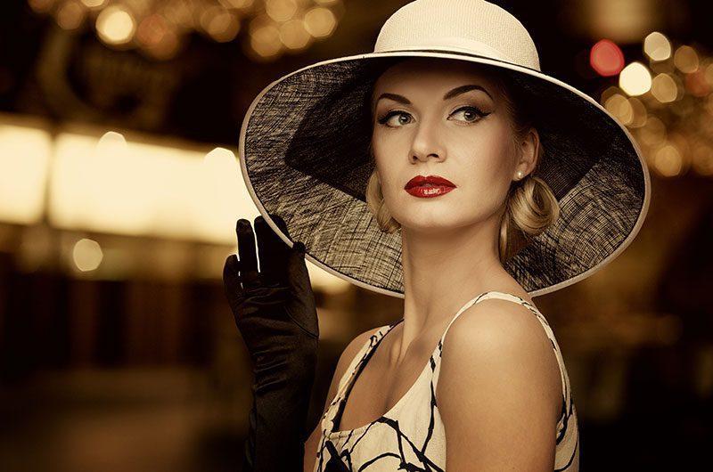 Žena s krásnym klobúkom