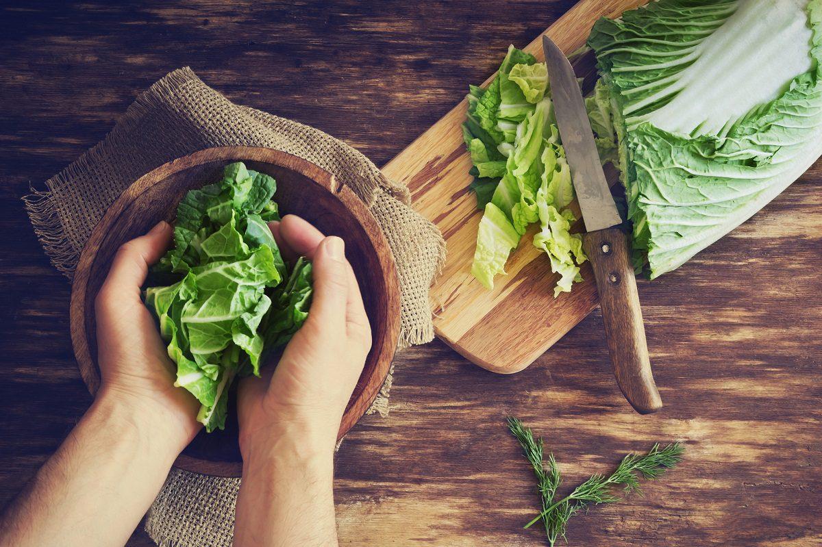restovaná činska zelenina